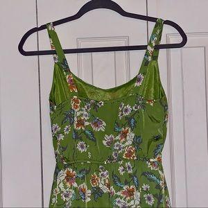 BeBop Dresses - BeBop Lightweight Floral Sundress in Olive